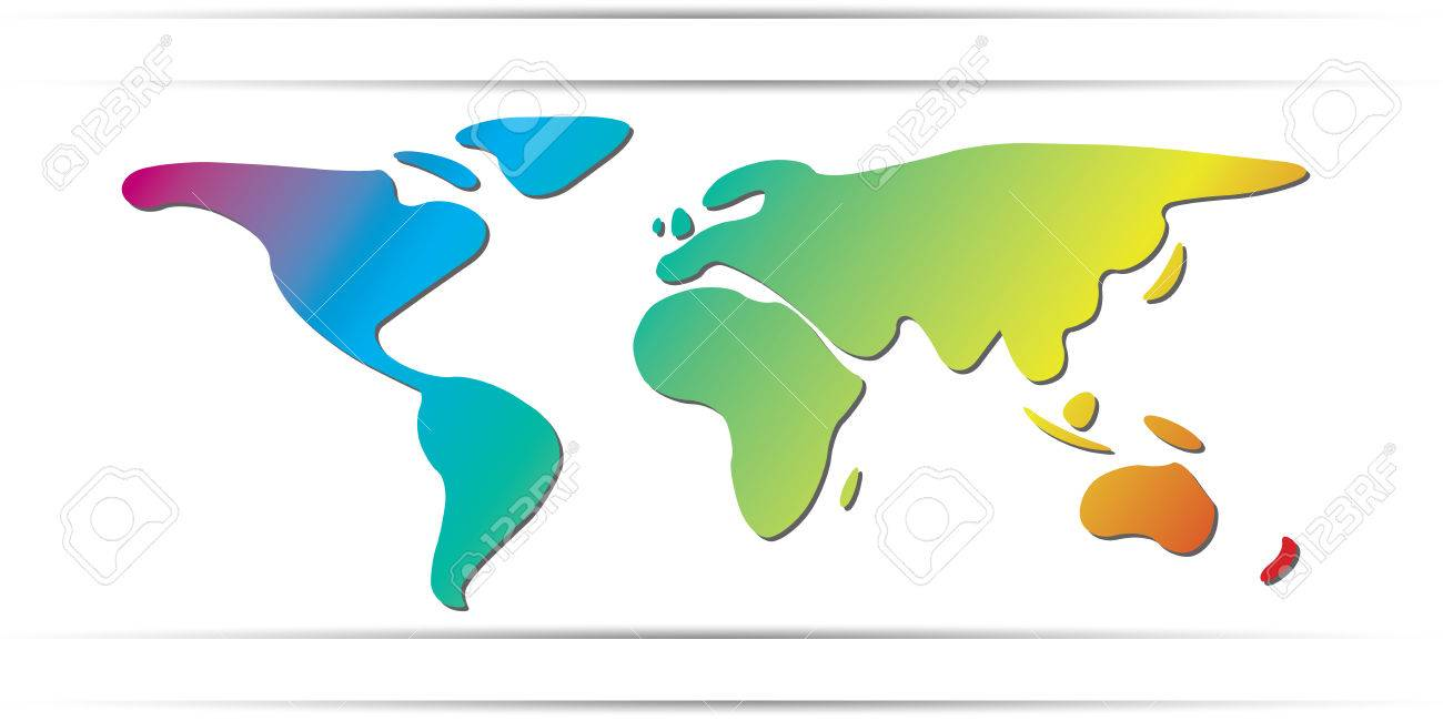 World map freehand continents rainbow color royalty free cliparts world map freehand continents rainbow color stock vector 34355055 gumiabroncs Images
