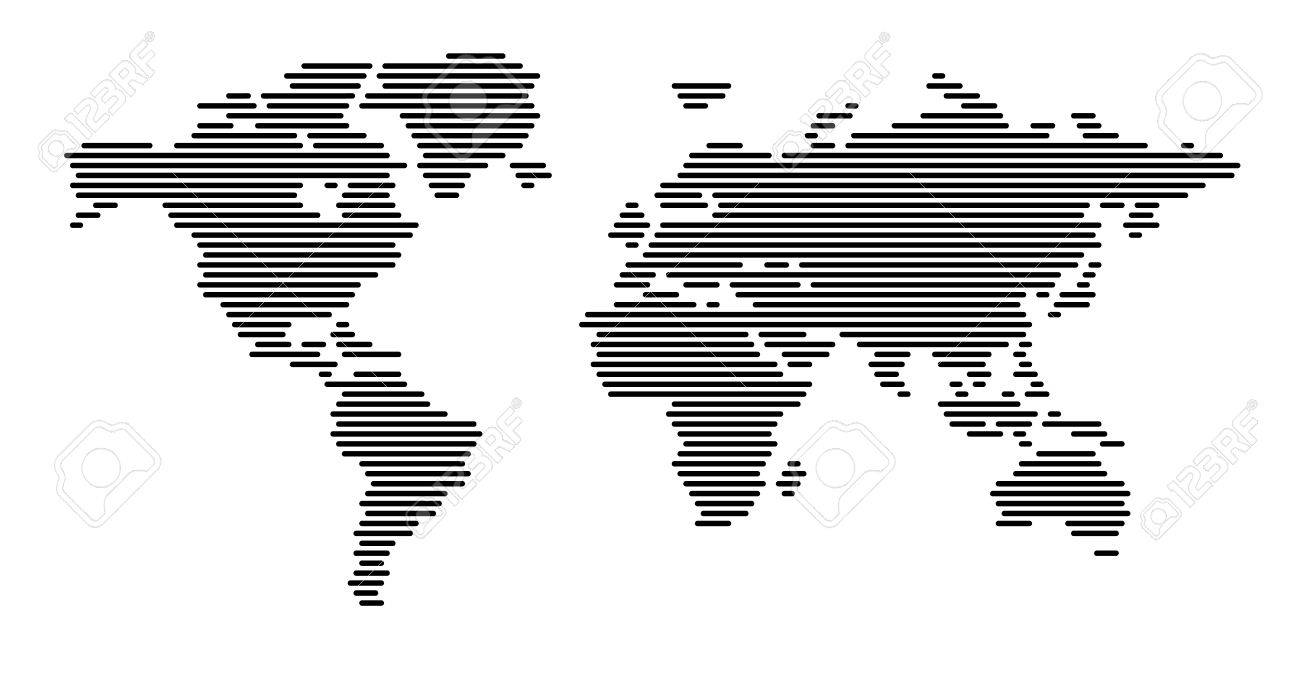 World map horizontal lines royalty free cliparts vectors and stock world map horizontal lines gumiabroncs Image collections