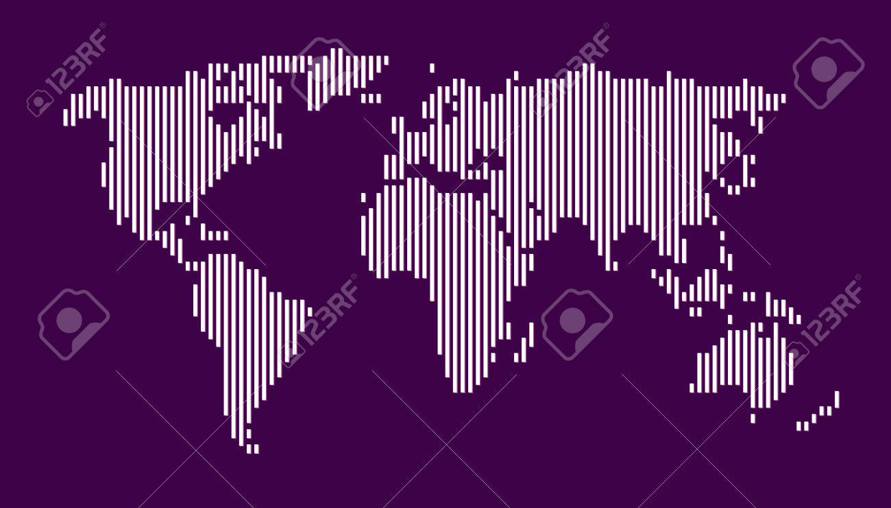 World map vertical lines eps 10 royalty free cliparts vectors and vector world map vertical lines eps 10 gumiabroncs Gallery