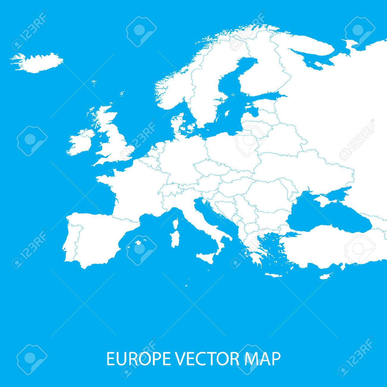 Europe Vector Map - 38787145
