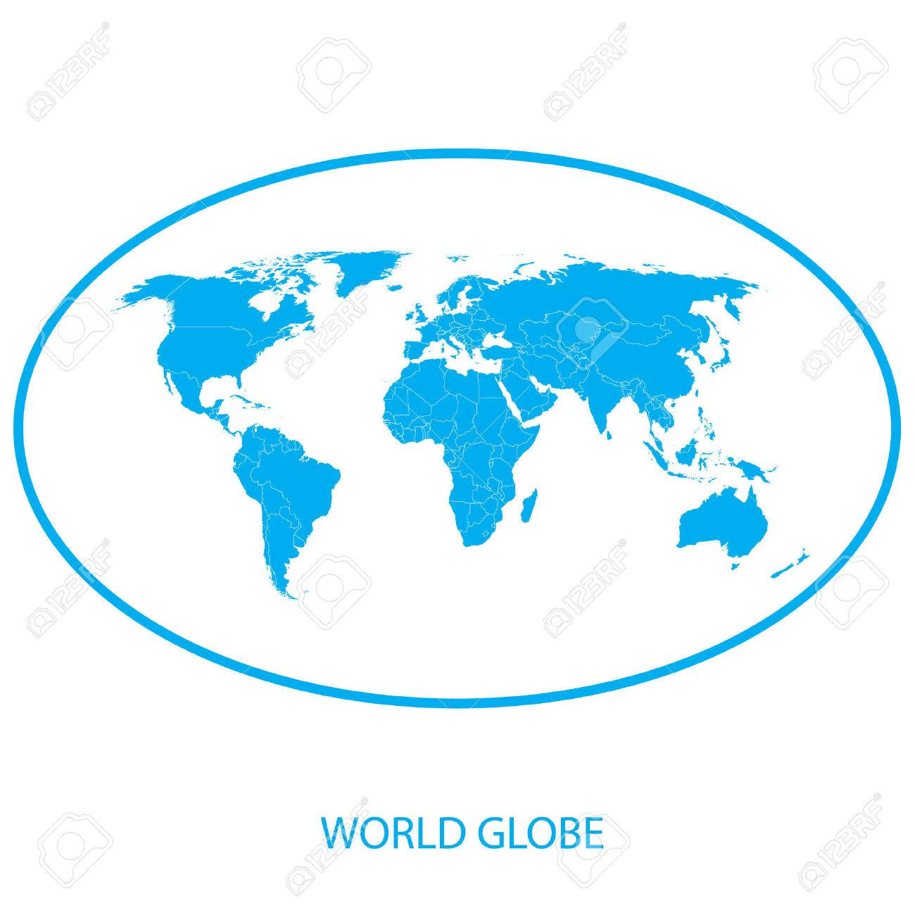 Globe icon world map royalty free cliparts vectors and stock globe icon world map stock vector 39041951 gumiabroncs Gallery