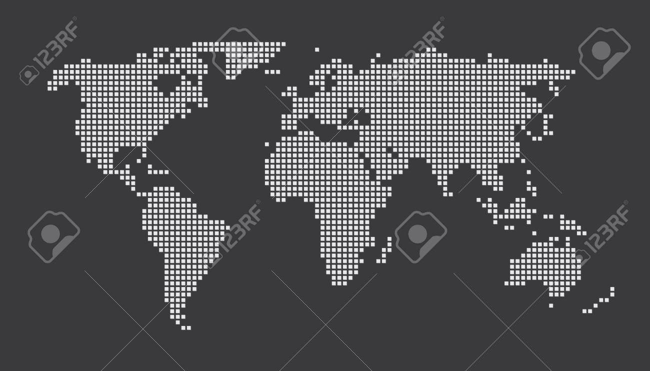World map concept dots eps 10 royalty free cliparts vectors and vector world map concept dots eps 10 publicscrutiny Gallery