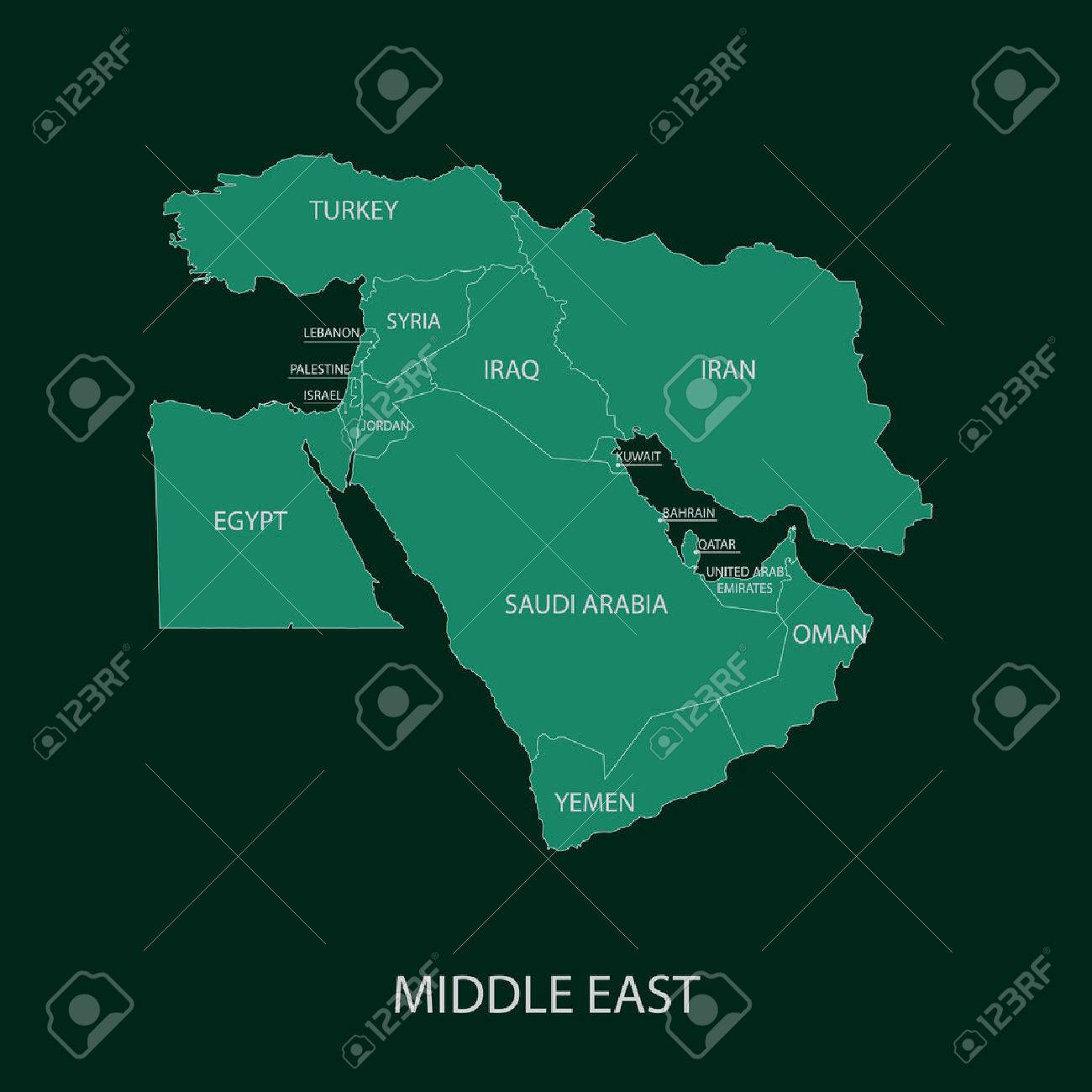 Middle East Map - 40027197