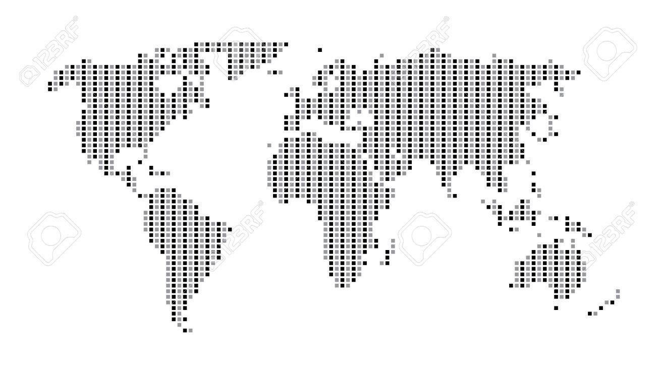World map dots matrix two tone pattern gray royalty free cliparts vector world map dots matrix two tone pattern gray gumiabroncs Choice Image