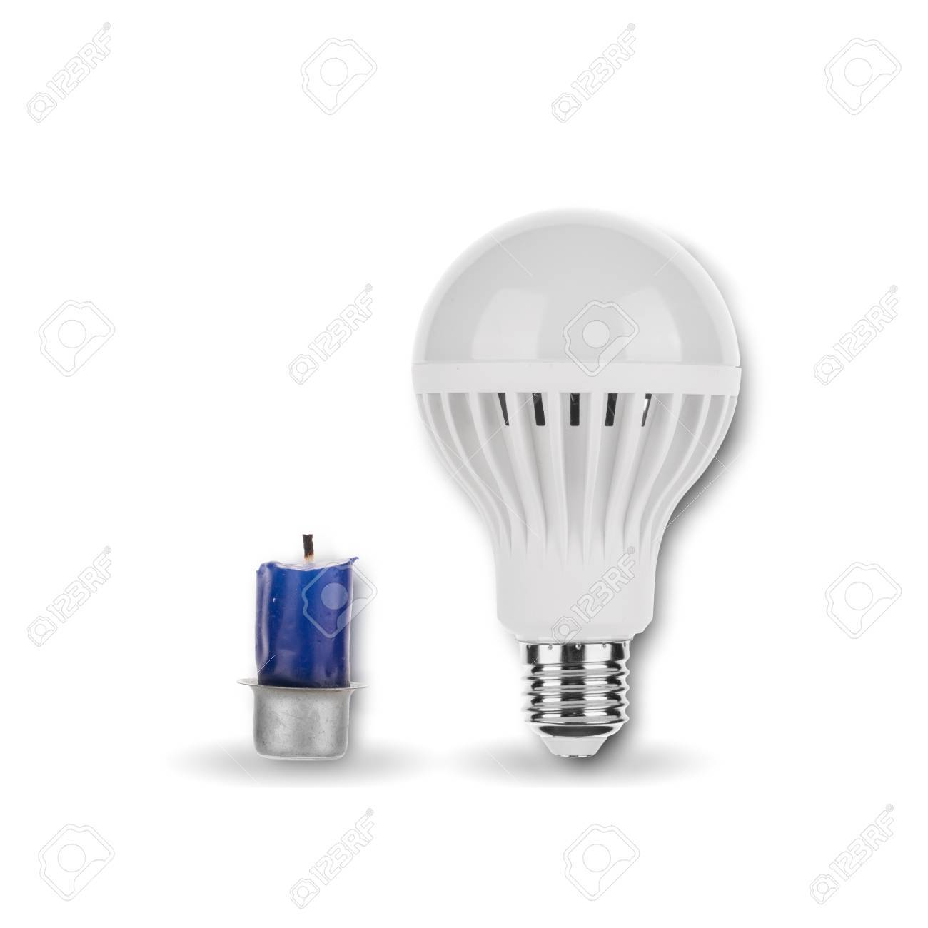 LED Light Bulb with Candle - 62117522