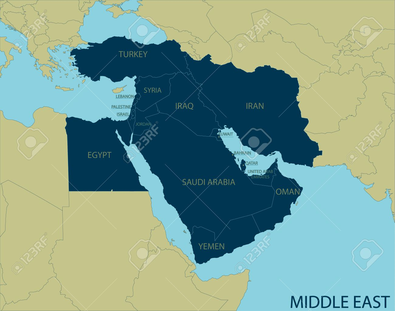 Middle East Map - 52000837