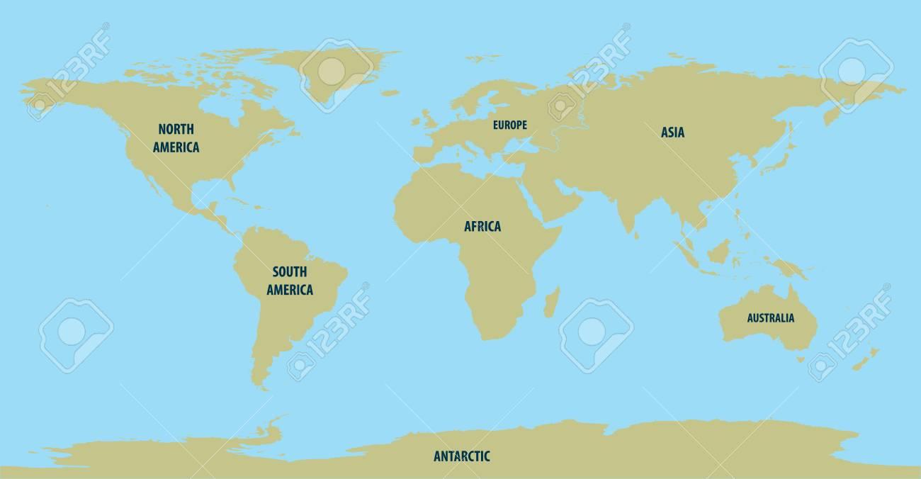 World Map Brown - 52001131