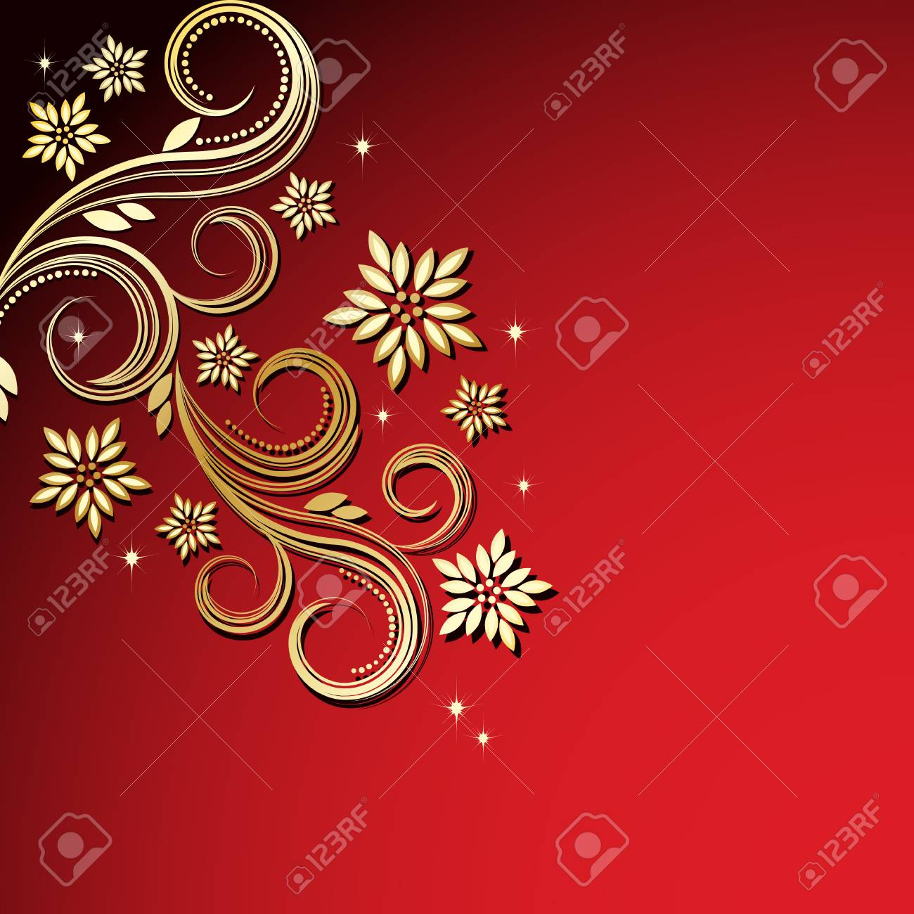 Holiday floral background Stock Vector - 6349397