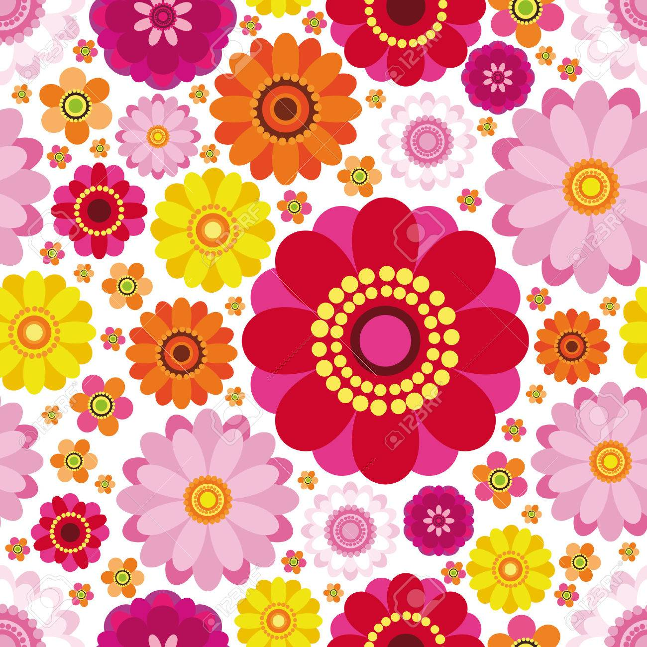 Easter floral background - an illustration for your design project. Stock Vector - 6658071