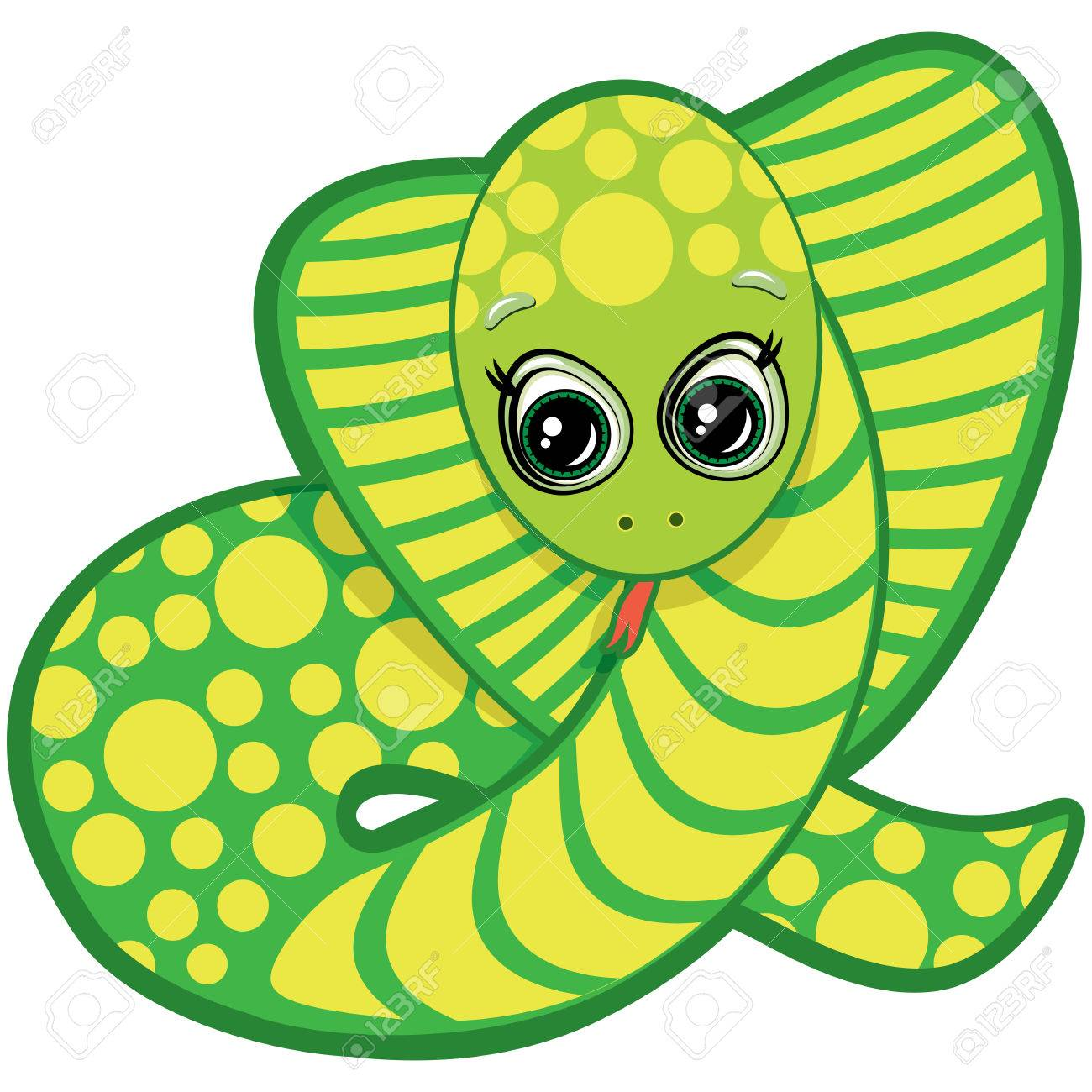 Little Snake - one of the symbols of the Chinese horoscope Stock Vector - 6746357