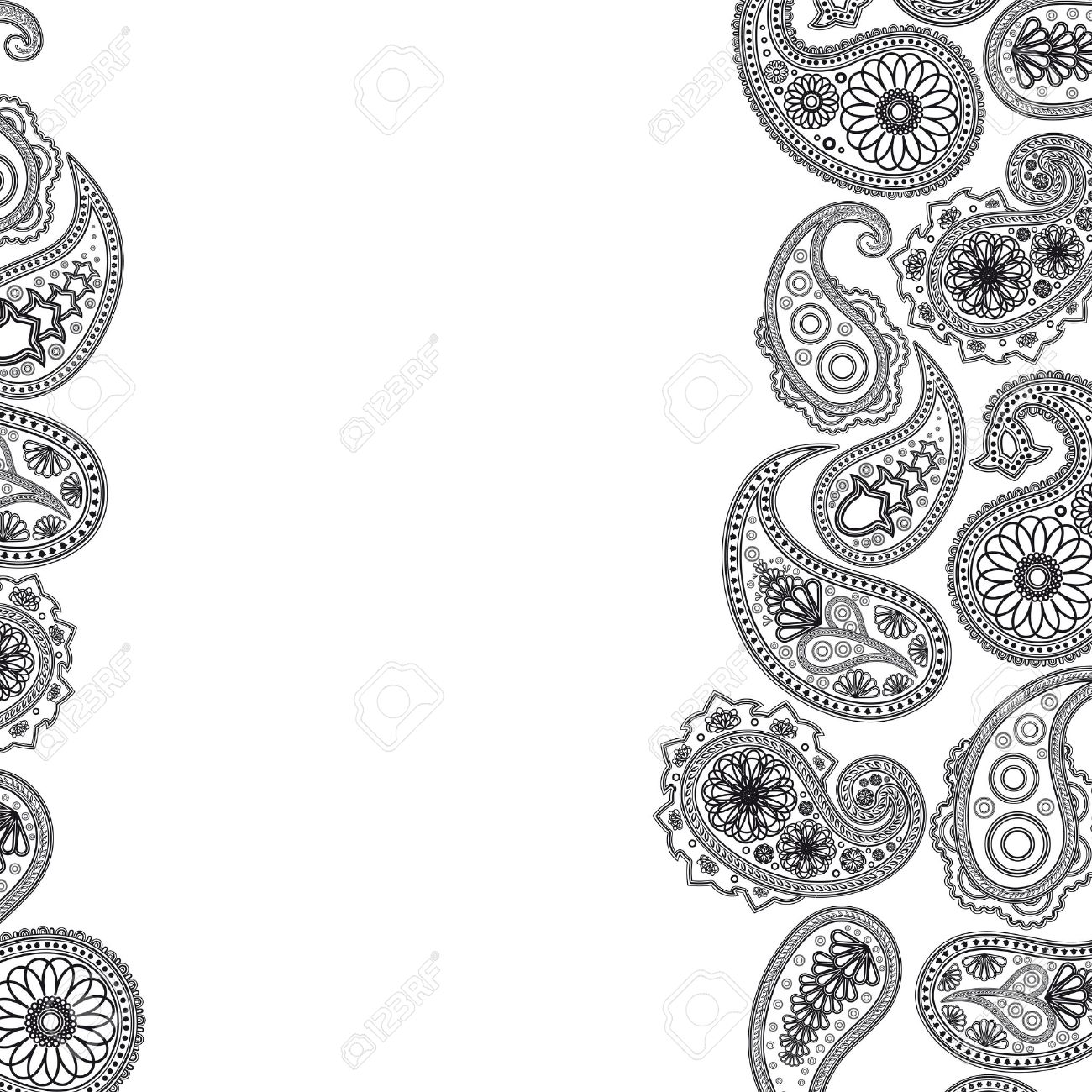 Paisley  surface. Abstract background Illustration for your design. Stock Vector - 7245954