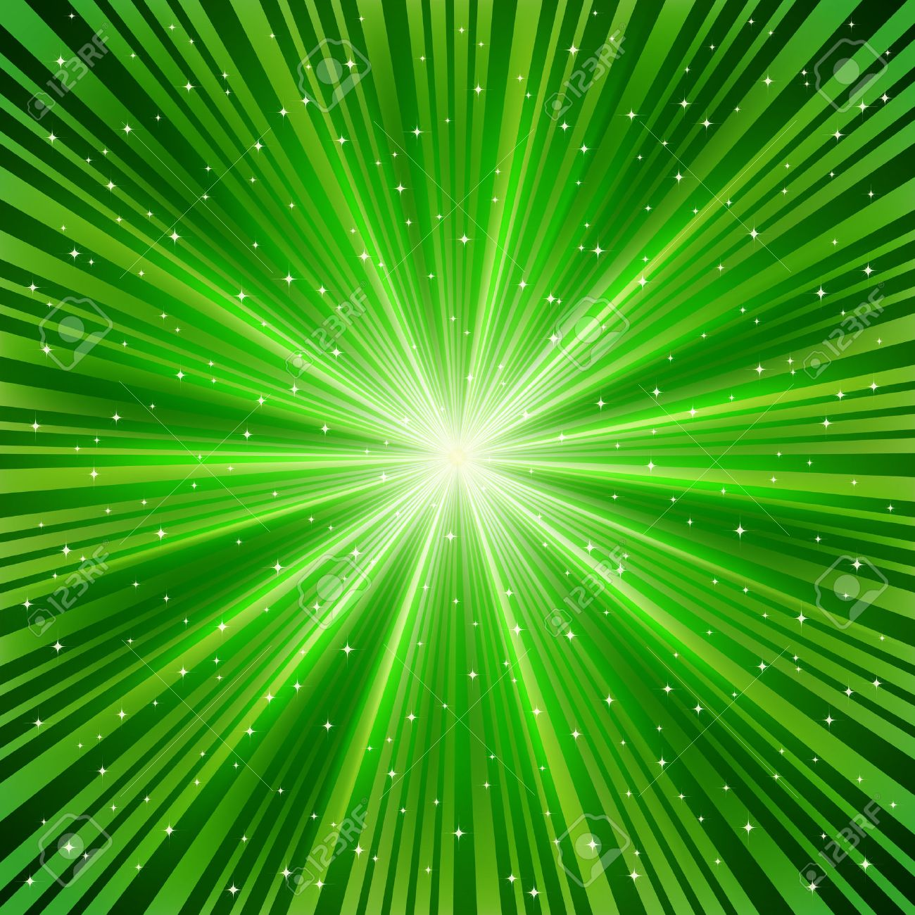 Ray Of Colorful Light Vector green ray of a star