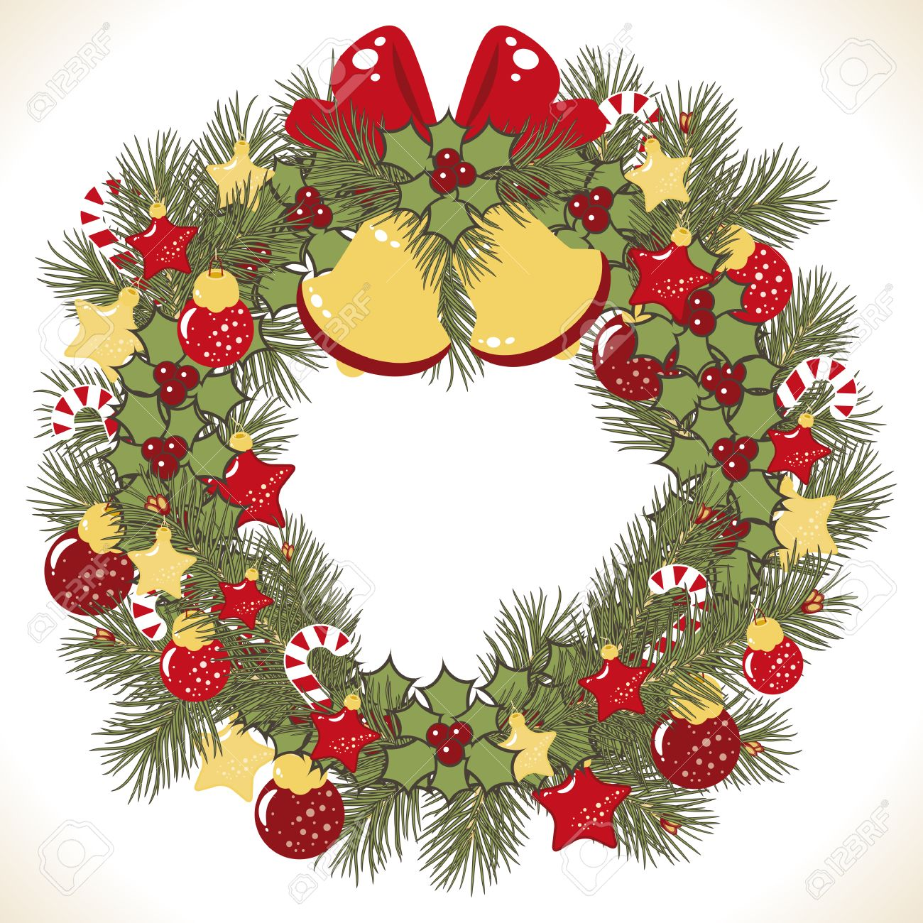 Christmas wreath vector image Stock Vector - 8302412