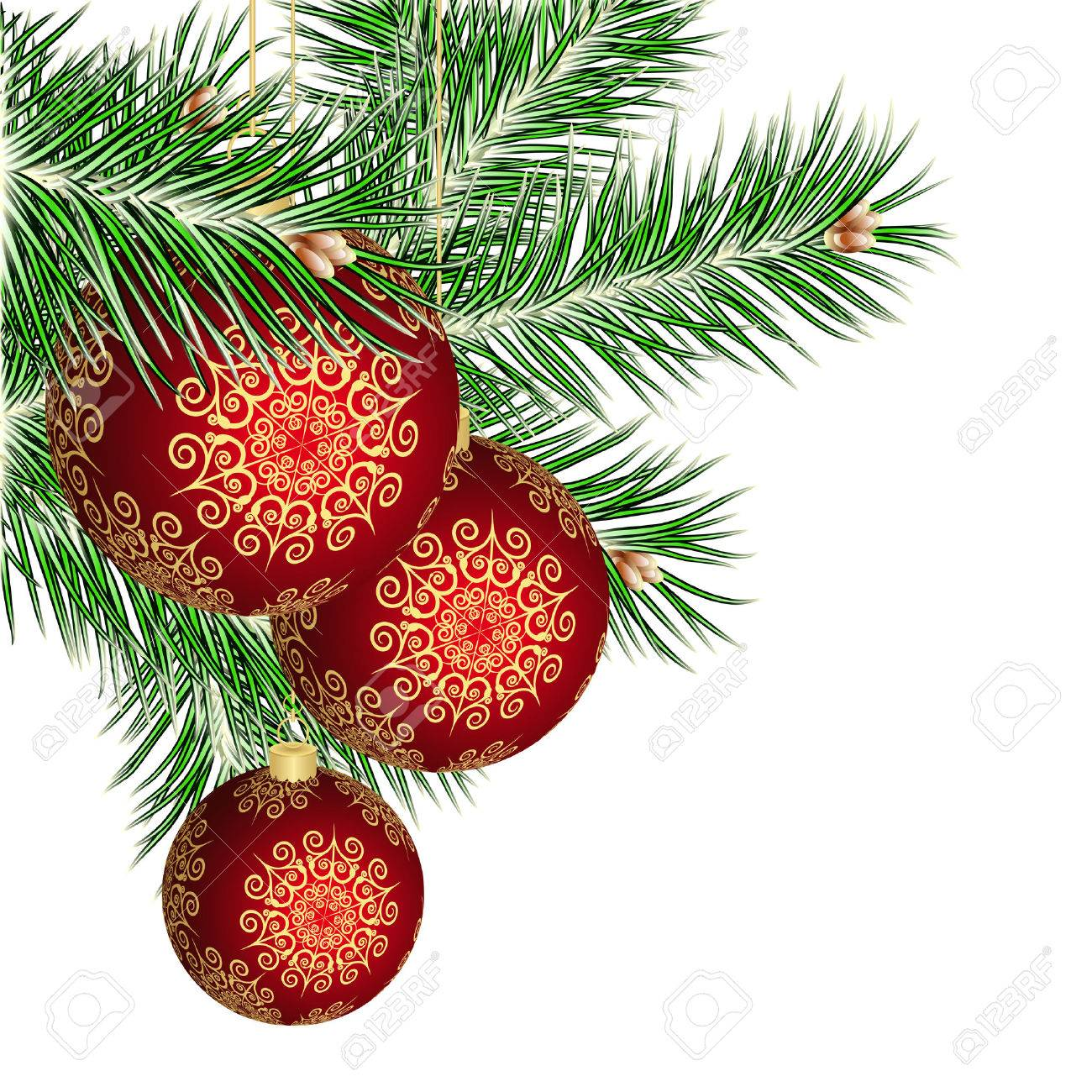 Christmas tree and red balls Stock Vector - 8302411
