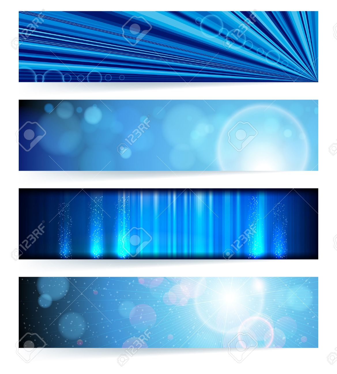 set of abstract banners. Blue Design. Background. Stock Vector - 8715170