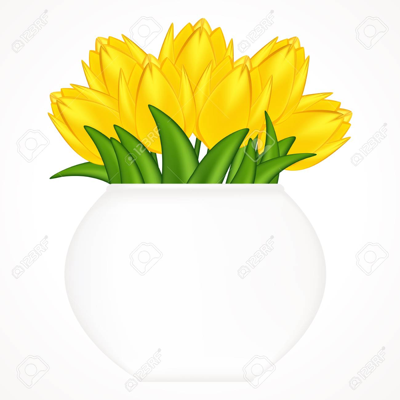 Vector illustration of bright tulips. Gradient meshes. Stock Vector - 9216530