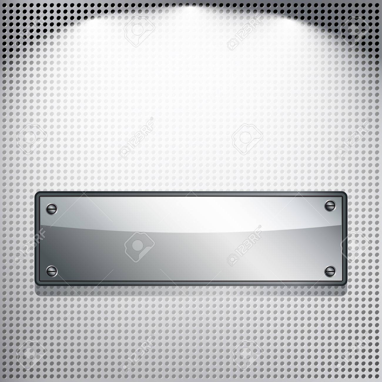 EPS10 Abstract background. Metal banner on a meshed background. Stock Vector - 9391161
