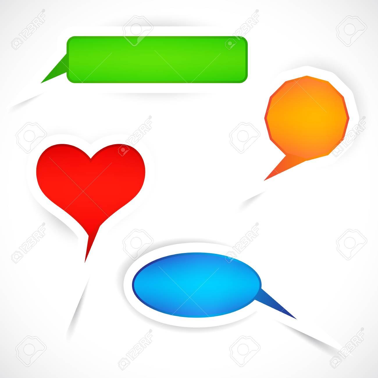 Set of sticker bubbles for speech. Stock Vector - 9470339