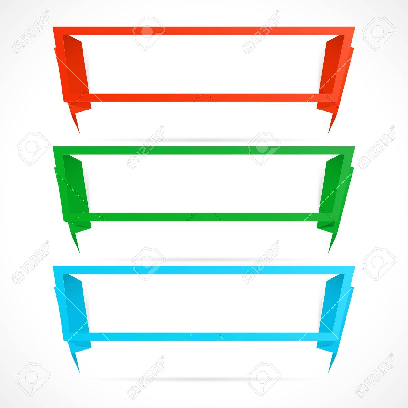Long banner in the form of an empty frame for your text. Stock Vector - 9631371