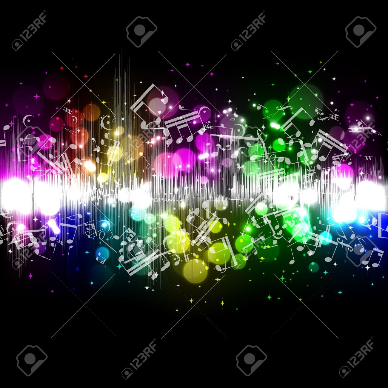 Vector music equalizer wave Stock Vector - 10304271