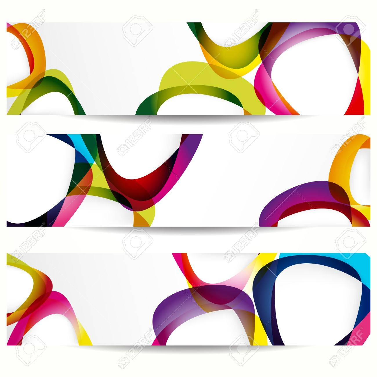 Abstract banner with forms of empty frames for your web design. Stock Vector - 10304260
