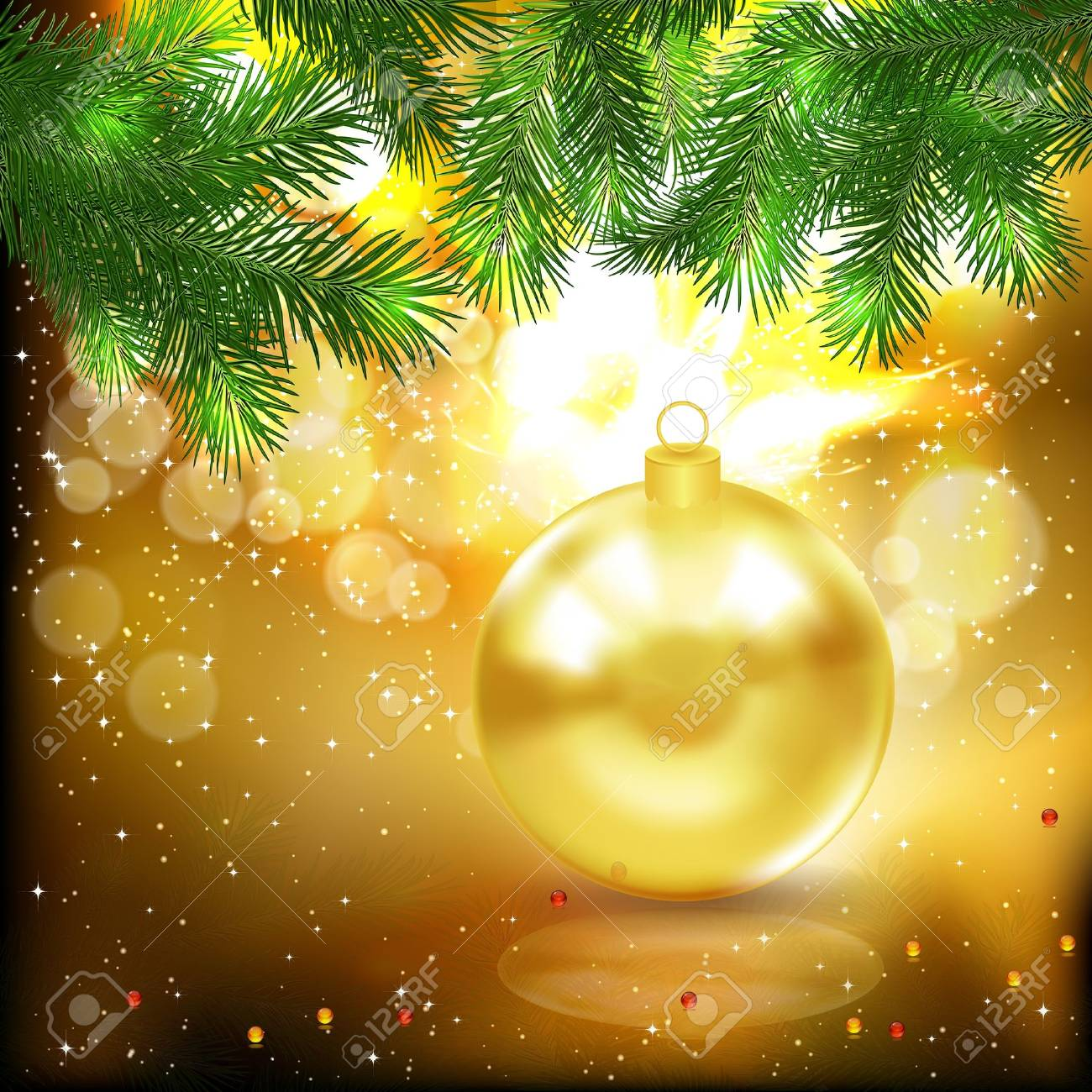 Christmas background. Stock Vector - 10319493