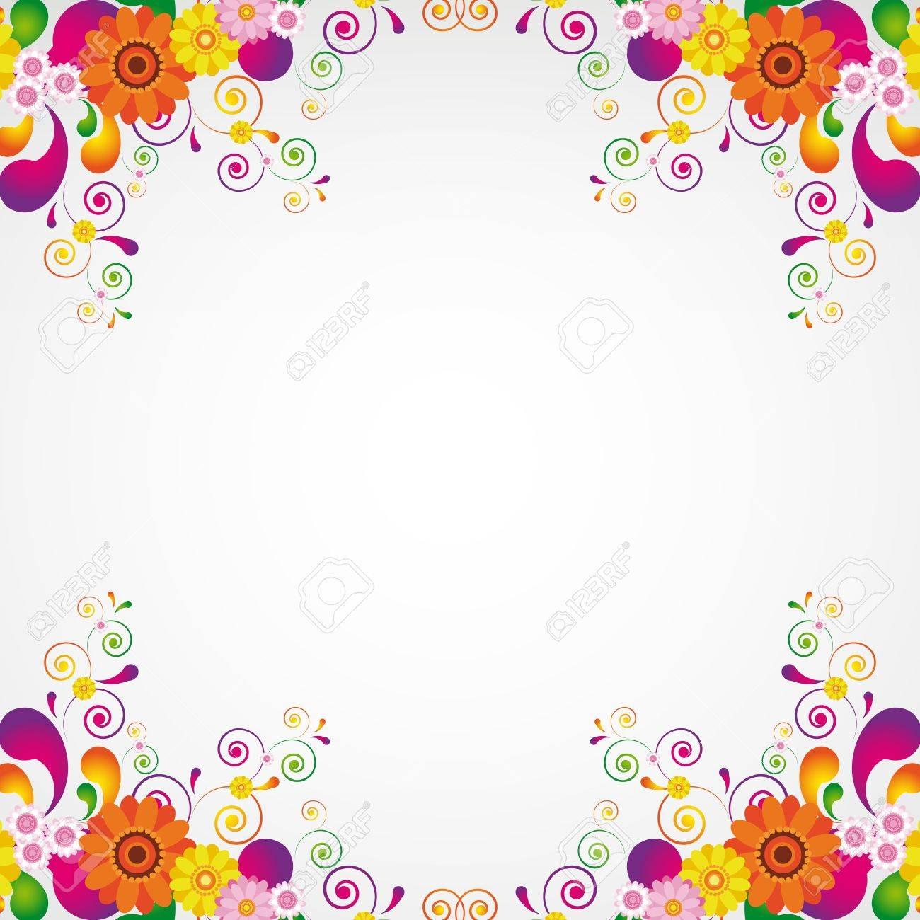 Floral design background. Stock Vector - 10400986