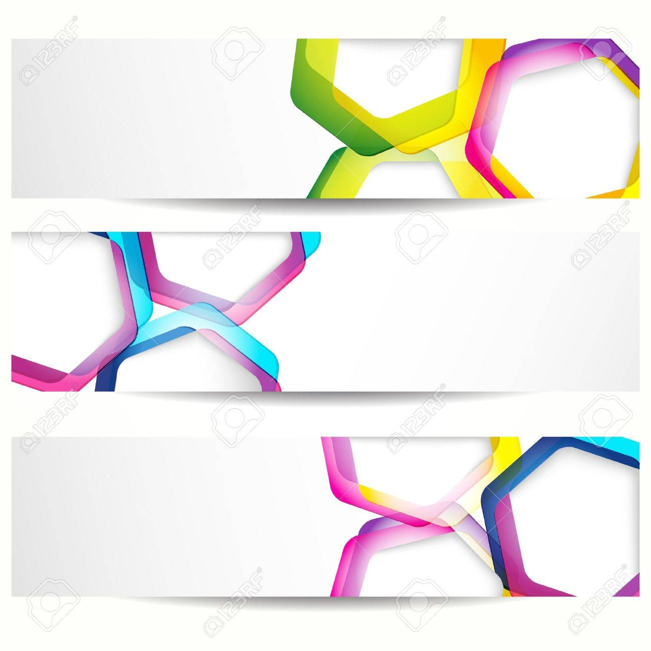 Abstract banner with forms of empty frames for your web design. Stock Vector - 10458651