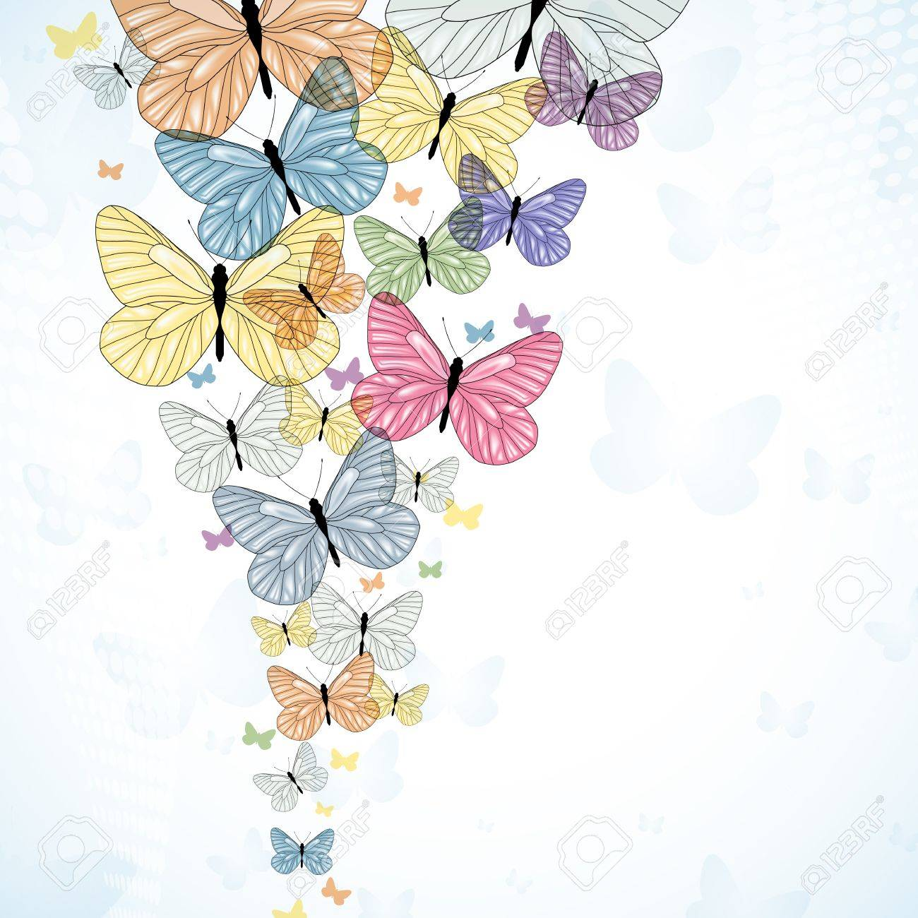 Pink butterfly vector background hd wallpapers pink butterfly vector - Butterfly Background Abstarct Background With Colorfull Butterfly Vector