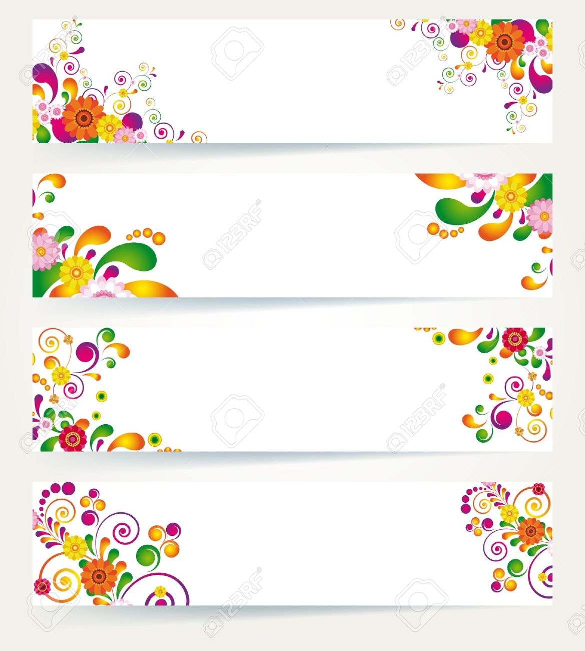Floral Design Banners Stock Vector