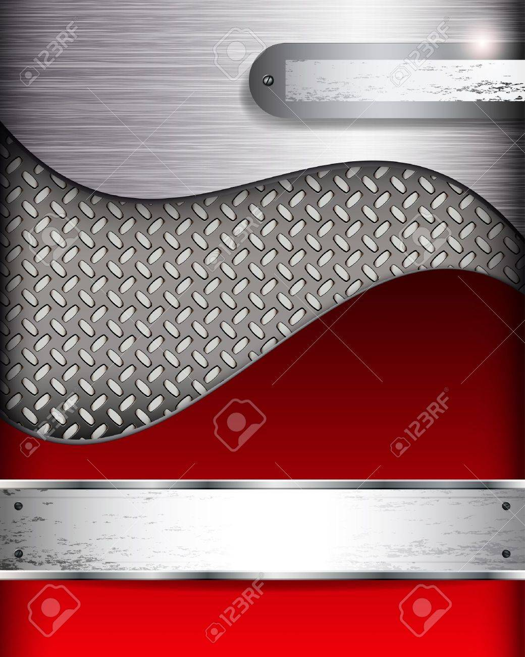 Abstract background with metall banners, vector. - 12839228