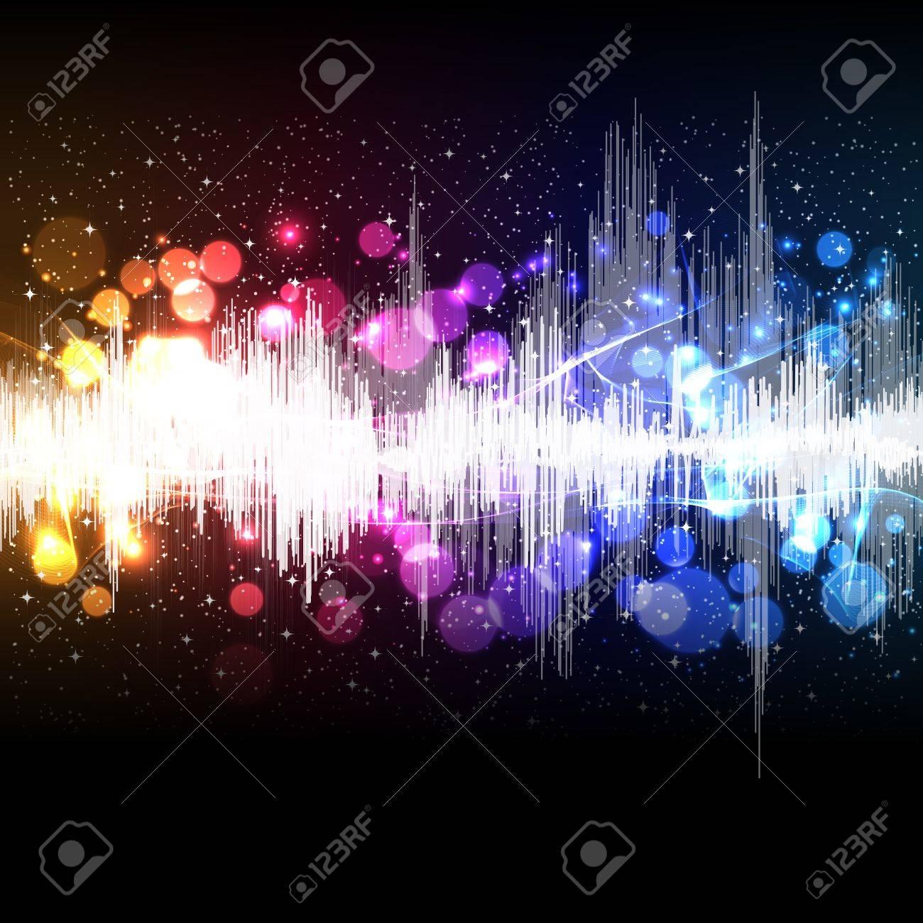 waveform music vector background Stock Vector - 13121152