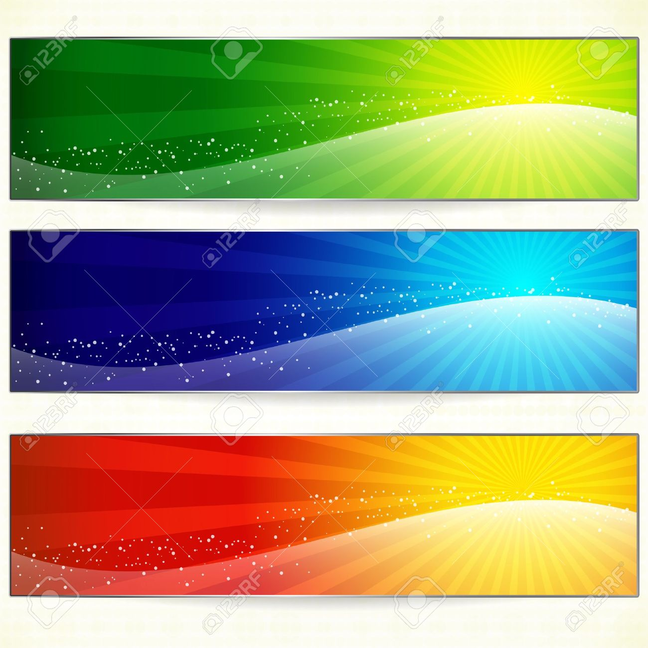 Abstract trendy colorful banners for your design header. Stock Vector - 13121116