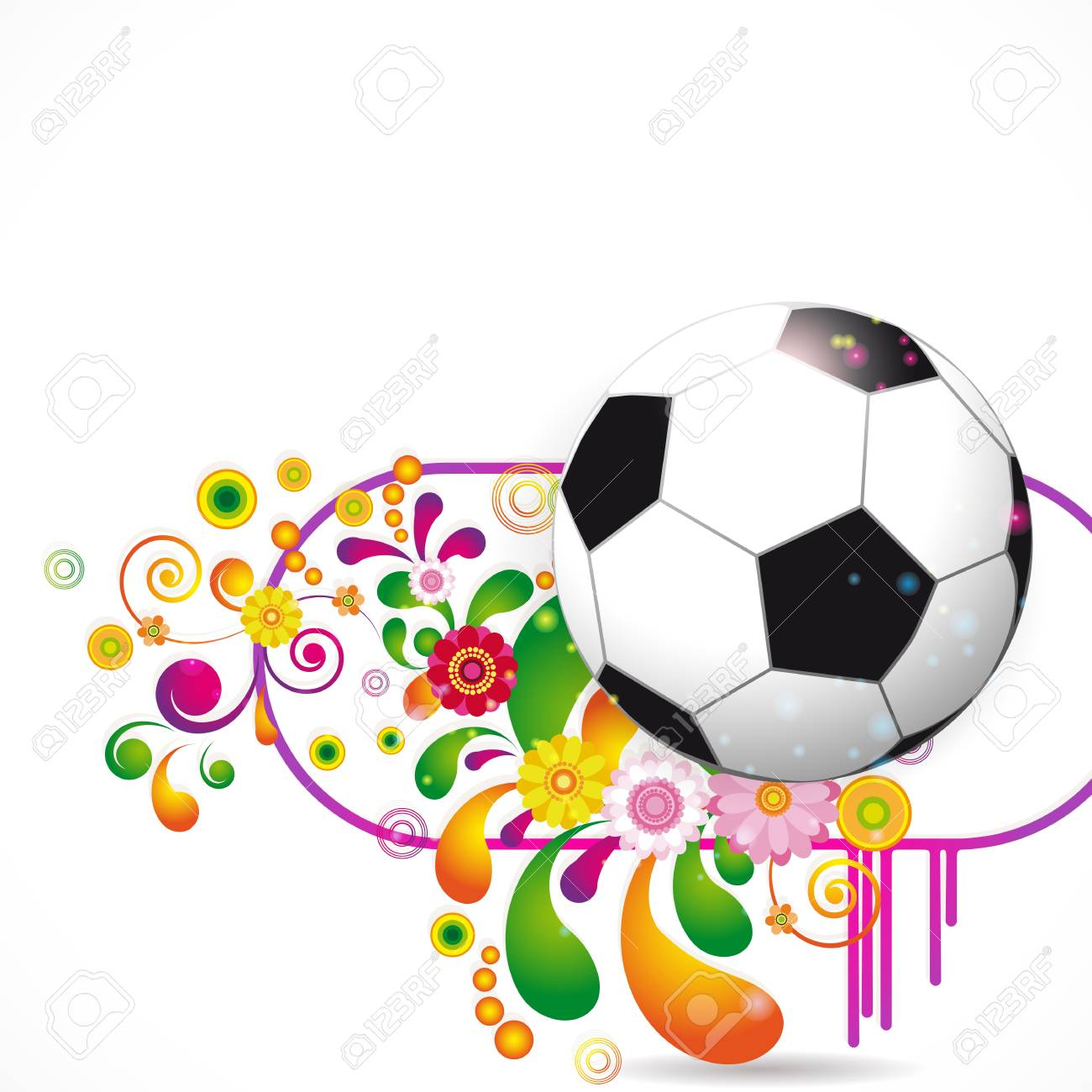 Soccer Ball vector background Stock Vector - 13305745