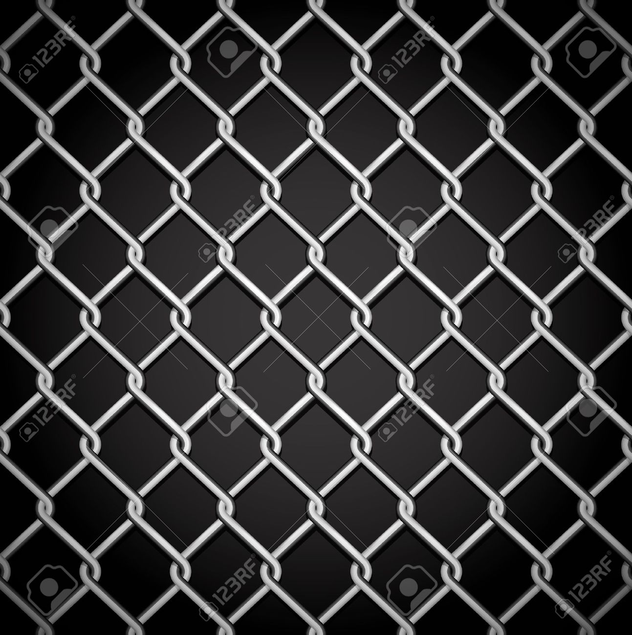 metal fence on a dark background no gradient mesh only contours stock vector