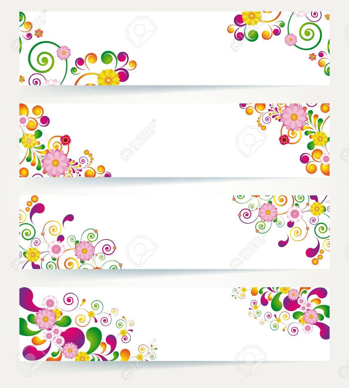 Floral Design Banners Royalty Free Cliparts Vectors And Stock