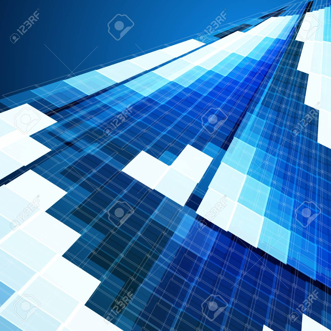 Abstract blue business background Stock Vector - 13941396