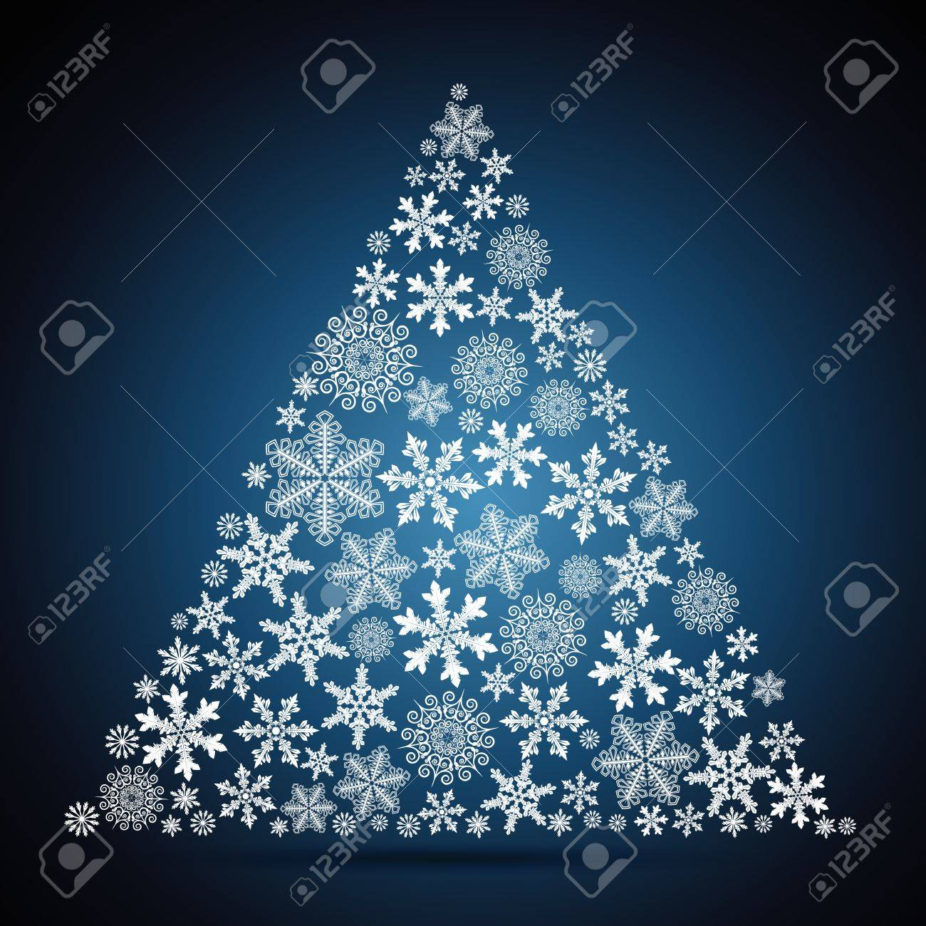 Christmas tree, snowflake design background. Stock Vector - 15378093
