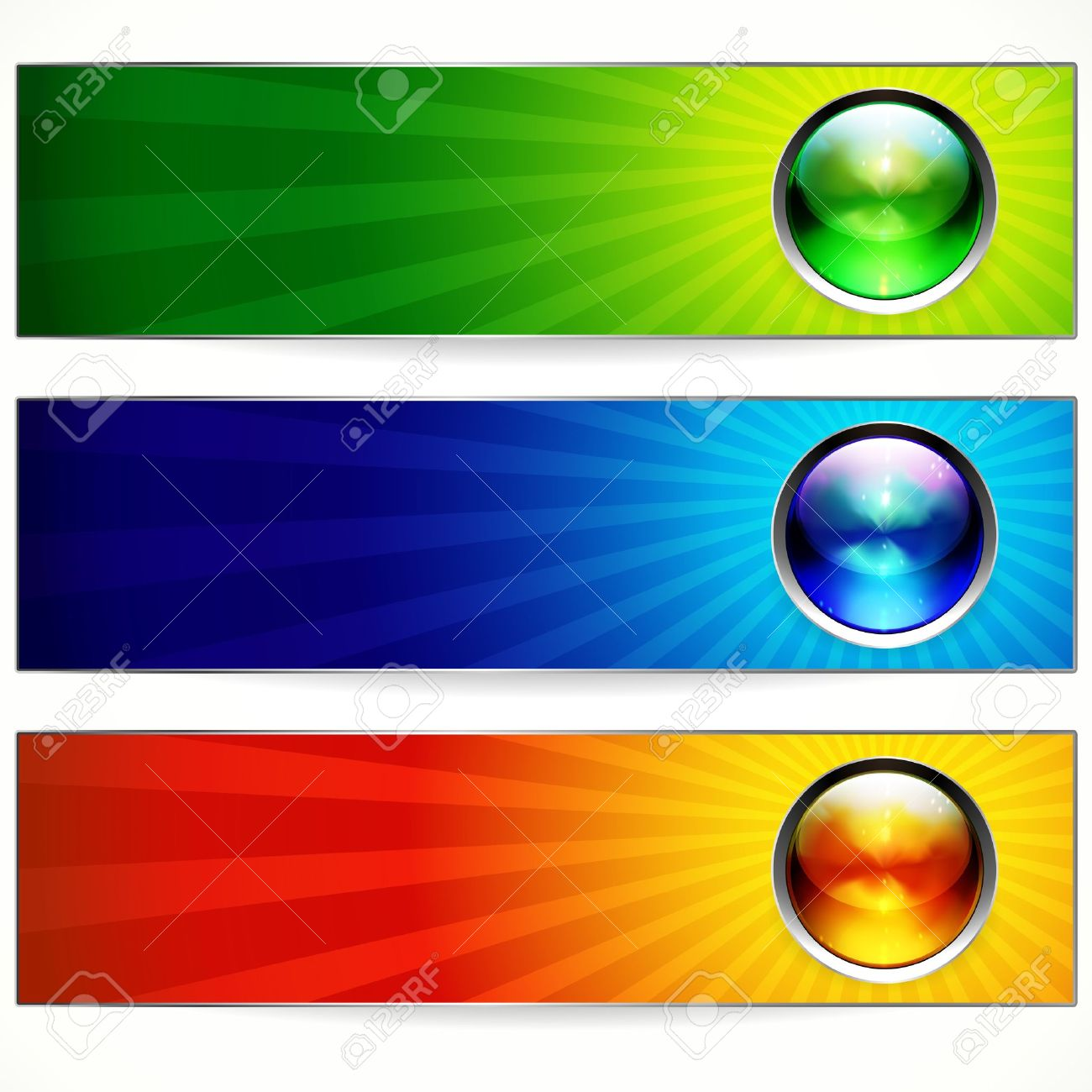 Abstract Color Banners For Your Design. Royalty Free Cliparts ...