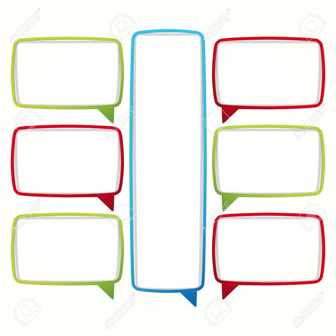 Blank Text Message Bubble Colorful speech bubble frames