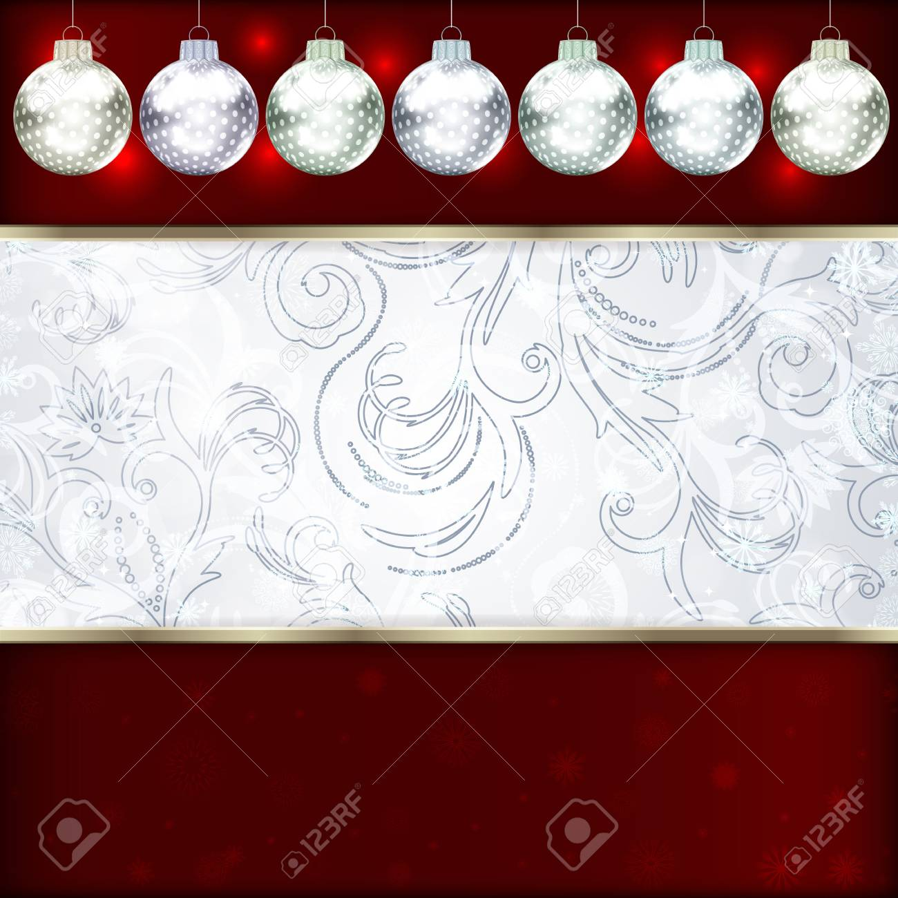 Background with Christmas balls illustration Stock Vector - 16595136