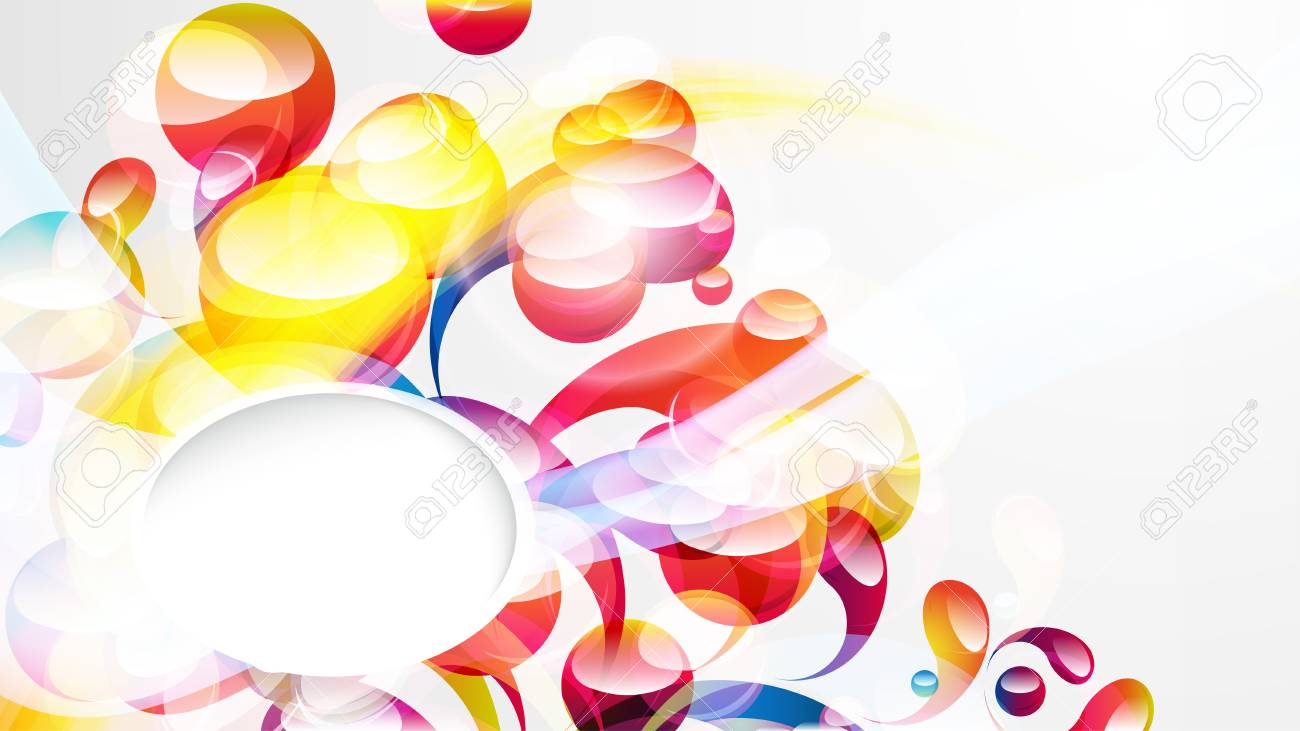 Abstract colorful arc-drop wallpaper. Stock Vector - 17566904