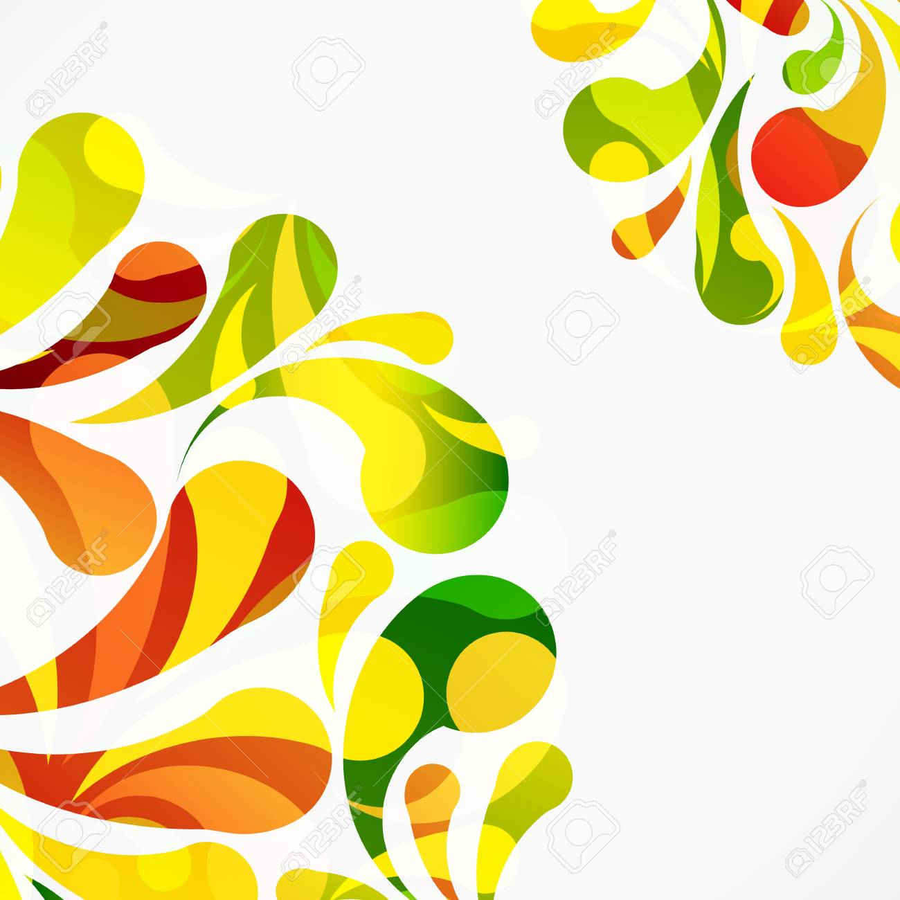 Decorative colorful arc drops background. Stock Vector - 17660080