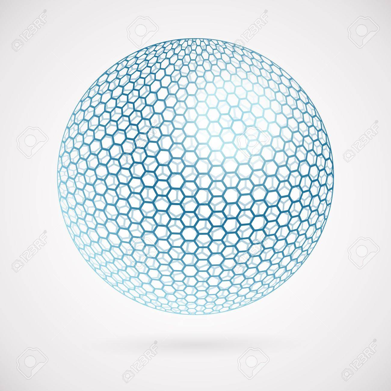 abstract sphere of hexagons. vector background royalty free cliparts,  vectors, and stock illustration. image 17660089.  123rf