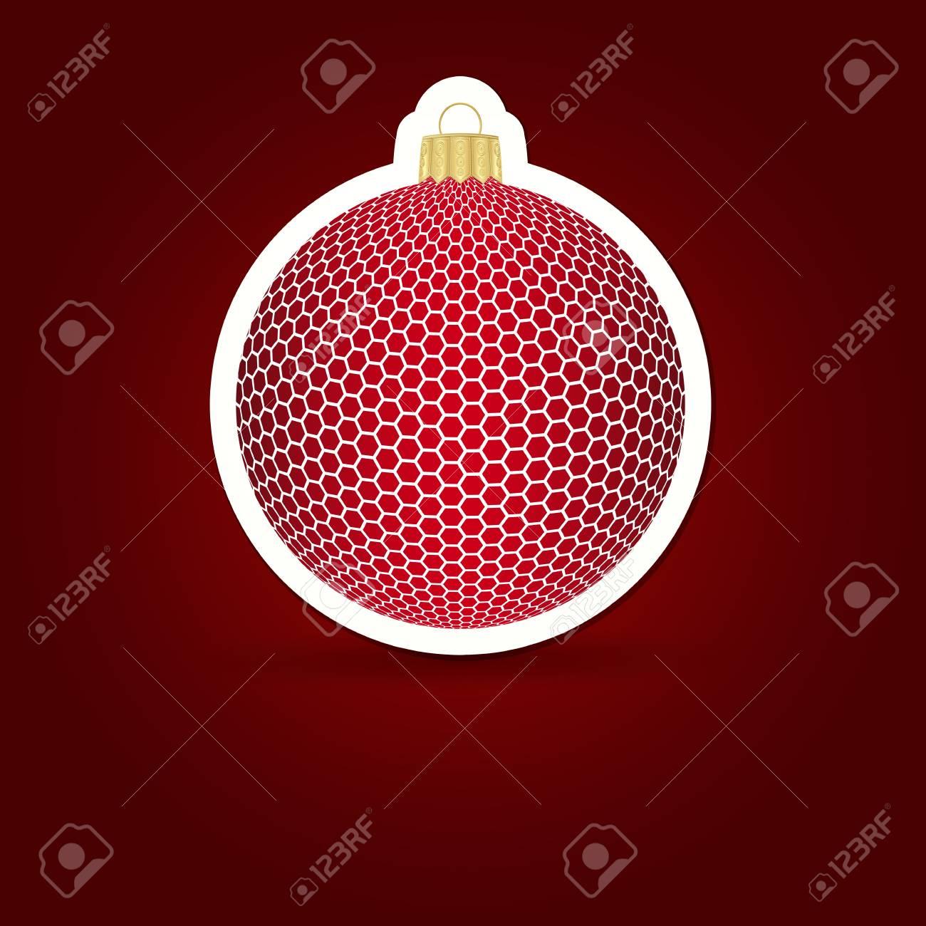 Christmas background. Sticker ball. Vector illustration. Stock Vector - 20168379