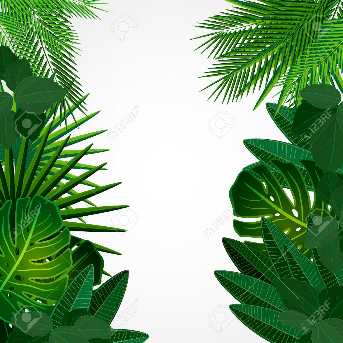Tropical leaves. Floral design background. - 33511453