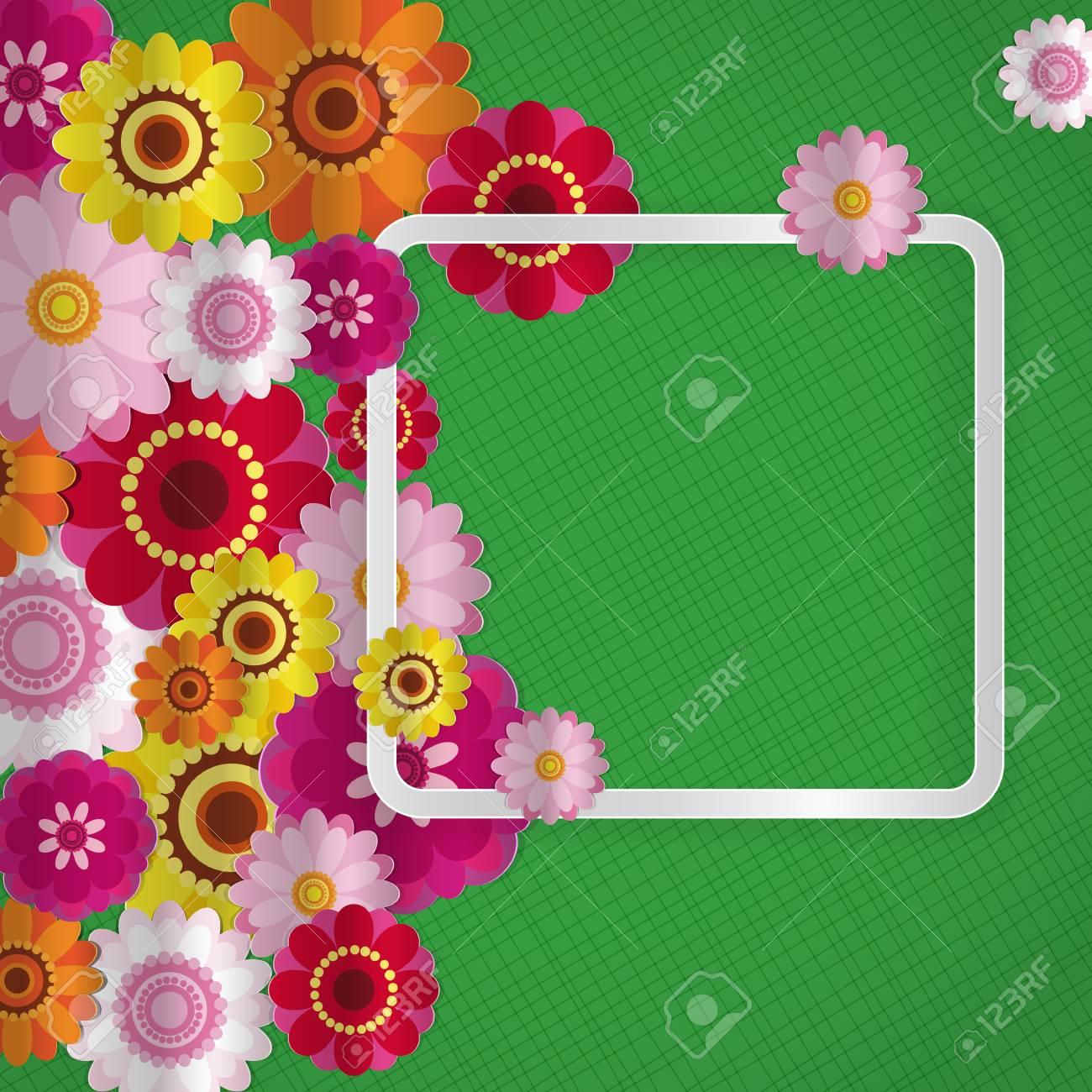 Frühlingsglückwunschblumenhintergrund. Festliche Papierblumen Auf ...