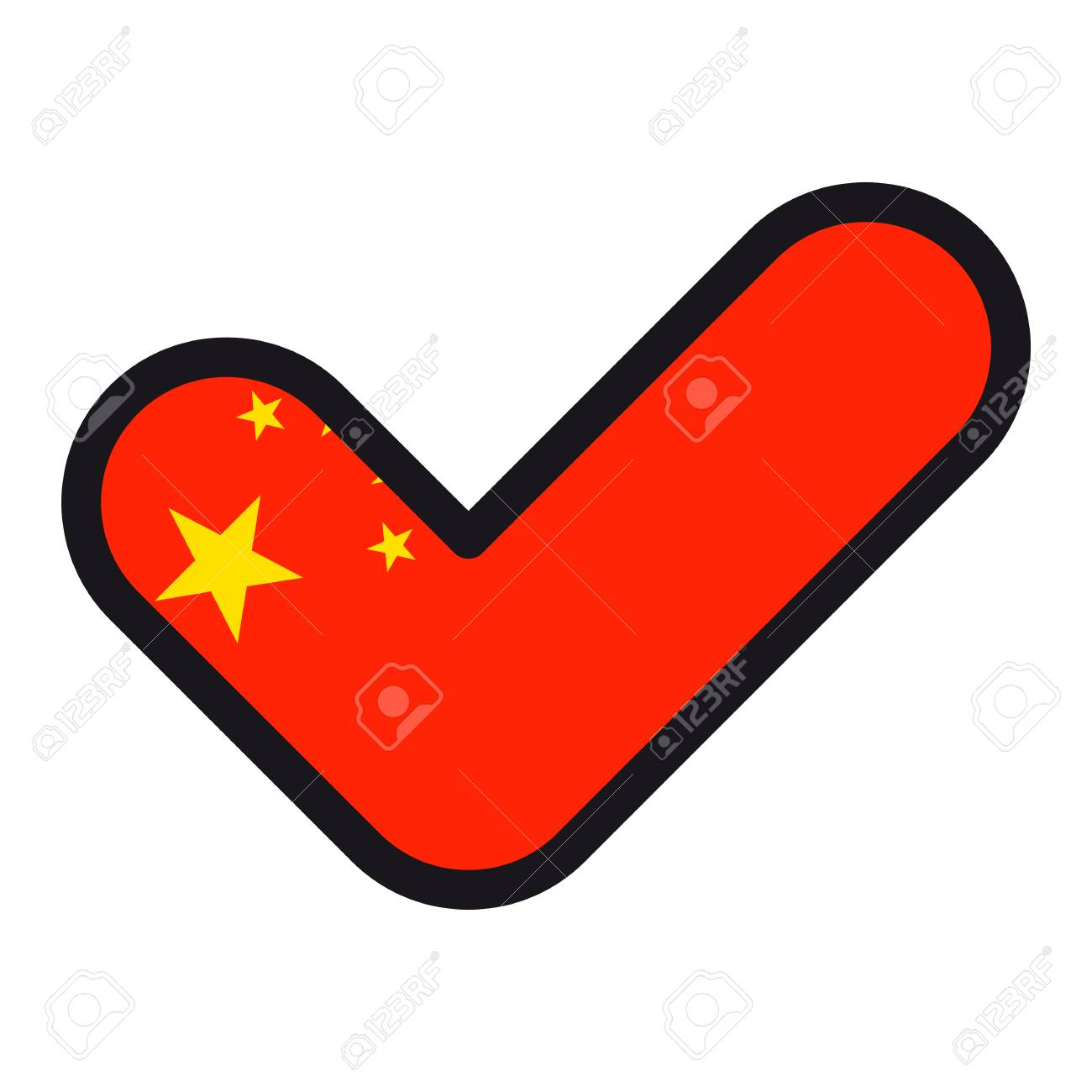Flag of china in the shape of check mark vector sign approval flag of china in the shape of check mark vector sign approval symbol of biocorpaavc Image collections