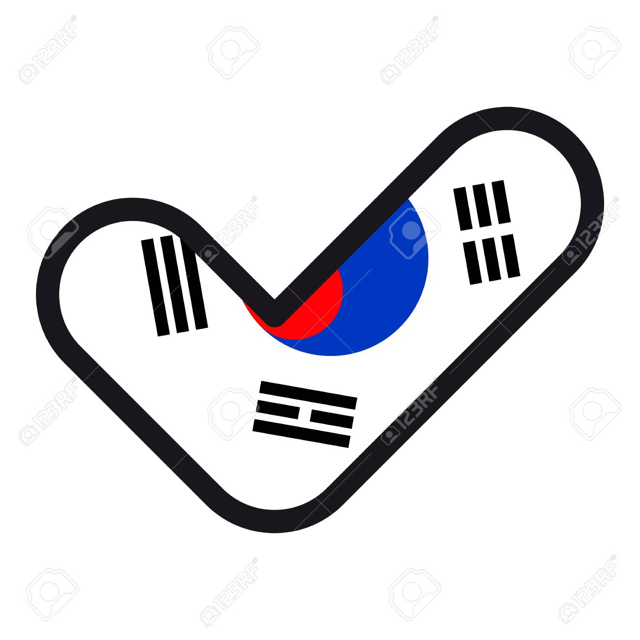 Flag of south korea in the shape of check mark vector sign approval flag of south korea in the shape of check mark vector sign approval symbol biocorpaavc Image collections