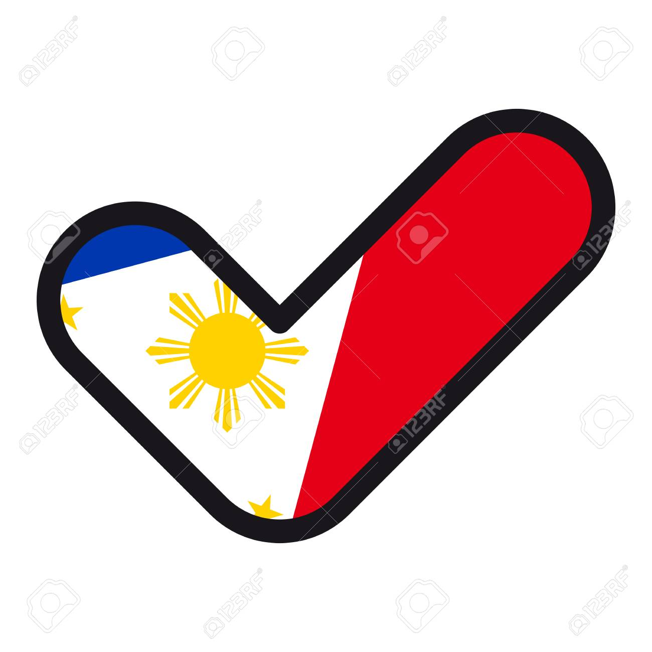 Flag of philippines in the shape of check mark vector sign flag of philippines in the shape of check mark vector sign approval symbol of buycottarizona Images